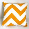 wavy stripe zigzag chevron yellow throw pillow case