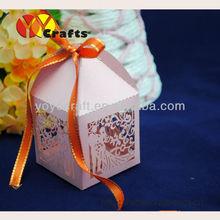 free logo new design customizable resonable price bride and groom wedding candy box