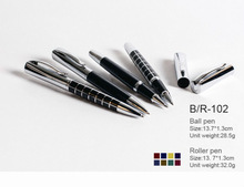 DEWEN High quality metal ball pen &roller pen set with square cap Parker refill