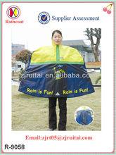 170T polyester/PVC printed rain poncho