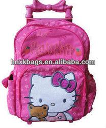"16""Cartoon rolling kids trolley bag for girls"