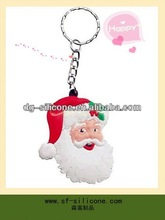 2013 Eco-friednly 3D Custom soft colorful keyring