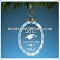 duplo gravado vidro oval enfeites para graduação lembranças