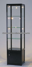 modern glass display cabinet