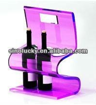 acrylic wine shelf