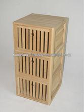 Solid wood storage basket