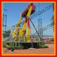 Large extreme amusement park rides top spin