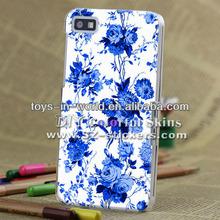 for blackberry z10 blue &white porcelain back housing