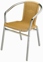 Commercial Outdoor Stackable Aluminum Wicker Chair SV-2024