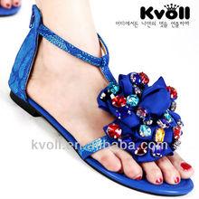 2014 open toe Fashion no heel Lady sandal