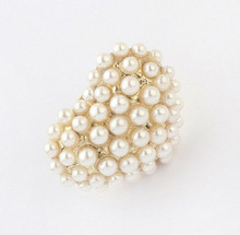 Korean Fashion lovely romantic love pearl ring
