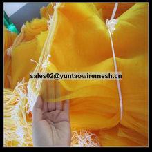 bright colour yellow vegetable mesh bag