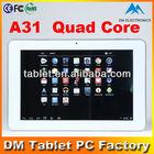 10 inch Allwinner A31 Quad Core tablet computer cheap one (DM-A1002)