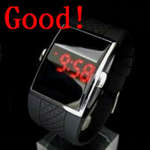 4colors strap intercrew led watch silicone rubber men watches sell well in market model mirror led watches alibaba express hot