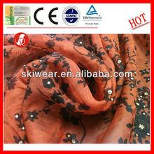 Anti Mosquito Silk Printed Organza Fabric