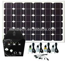 60W solar system for home lighting