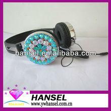 Totally Handcraft Luxury Crystal Rhinestone Effect Bling Stereo Headphones Diamond Headphones