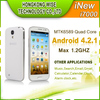 Inew I7000 5 inch MTK 6589 no brand android phones 1gb ram Dual camera