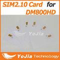 La carte sim pour dreambox 800 dm800hd pvr récepteur satellite pro sim2.10 carte