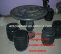 Table et chaise de jardin en granit noir( 30 ans d'histoire d'usine)