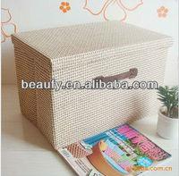 country style big capacity folding household storage box