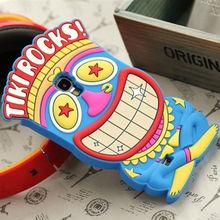 cute 3D clown soft silicone Tiki Rocks case for samsung galaxy s4 cartoon case