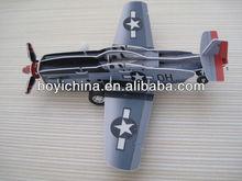 Promotional 3D PP cartoon puzzle plane model