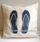 fashion decorative linen cushion cover flip flop pillow case