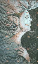 glass mosaic angel design pattern for wall art murals church