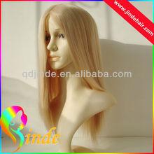 Jinde Natural hair blonde mono lace wigs