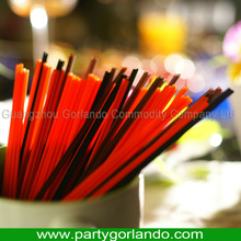 Hot selling red color plastic coffee straw with two holes