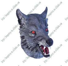 GREY WEREWOLF LATEX MASK, HALLOWEEN, FANCY DRESS, SCARY WOLF WAREWOLF DOG MASK