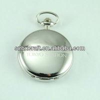 japan movt quartz good polished stainless steel colour pocket watch