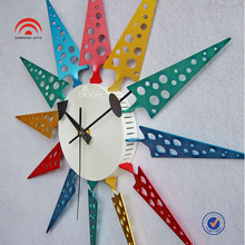 Colorful Plastic Wall Clocks, Fashion Home Decoration,Promotion Gifts