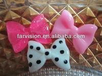 high quality diy flat back Kawaii hair bow resins cabochon