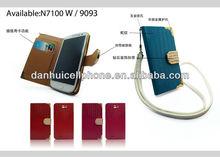 multifunction lizard line flip leatehr case for Samsung galaxy note 2 N7100