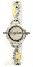 Bracelet wrist watch two tone watch