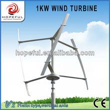 green energy 1kW Helix type wind and solar hybrid