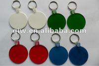promotional cheap acrylic plastic key chain blank keyring/keychain vners brand/Wholesale keyring