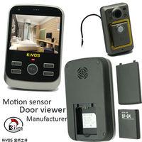 Movement Sensor Door Viewers With 3.5 Inch Color Screen For Kenya Market