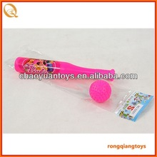 19 cm plastic Baseball bat with ball set in bag SP87302001