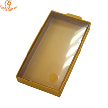 High quality cardboard iphone case box,paper iphone cover packaging with PVC lid