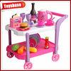 Kitchen set kid toy cart