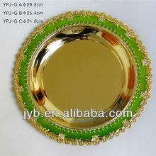 engraved custom logo blank metal souvenir plates /bked enamel plates
