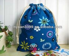girl's popular 4c color print cloth shopping bag
