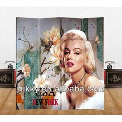 Decorative folding screens & Cheap room divider & Canvas room divider screen wholesale