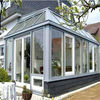 High quality tempered glass room,aluminium glass garden room