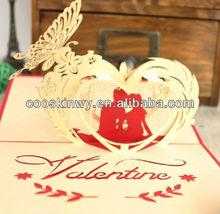 Hot design laser cut wedding invitation card