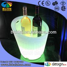 modern bar ice cooler led /LED wine pail /light up flower pot /plastic flower pot