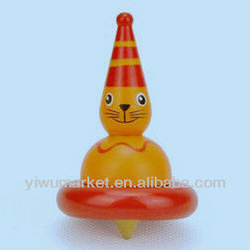2013 New Design cat wooden gyro, magical spinning tops